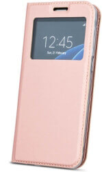 smart look flip case for huawei y7 prime 2018 honor 7c rose gold photo