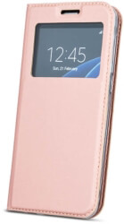 smart look flip case for samsung a6 2018 rose gold photo