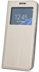 smart look flip case for samsung a7 2018 gold photo