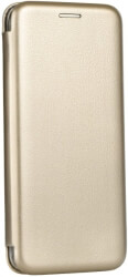forcell book elegance flip case for samsung galaxy s10 pro gold photo