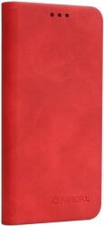 forcell silk flip case for samsung galaxy s10e s10 lite red photo