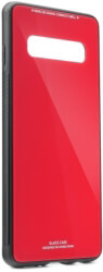 glass flip case for samsung galaxy s10 red photo