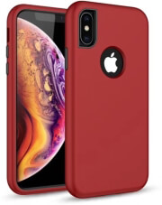 defender solid 3in1 back cover case for samsung s10 plus red photo
