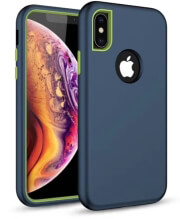 defender solid 3in1 back cover case for samsung s10e navy blue photo