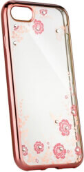 forcell diamond back cover case for huawei y7 2019 pink gold photo