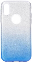 forcell shining back cover case for huawei y6 2019 clear blue photo