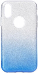 forcell shining back cover case for huawei y7 2019 clear blue photo