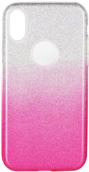 forcell shining back cover case for huawei y7 2019 clear pink photo