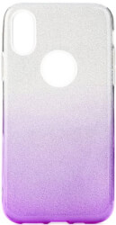 forcell shining back cover case for huawei y7 2019 clear violet photo