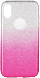 forcell shining back cover case for samsung galaxy a10 clear pink photo