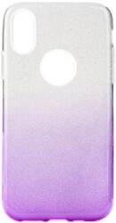 forcell shining back cover case for samsung galaxy a30 clear violet photo