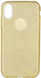 forcell shining back cover case for samsung galaxy a50 gold photo