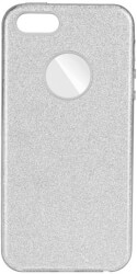 forcell shining back cover case for samsung galaxy a50 silver photo