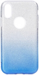 forcell shining back cover case for samsung galaxy m10 clear blue photo