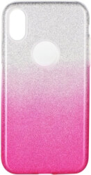 forcell shining back cover case for samsung galaxy m10 clear pink photo