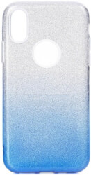 forcell shining back cover case for samsung galaxy m20 clear blue photo