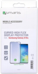 4smarts curved high flex screen protector with fingerprint detection for samsung galaxy s10 black photo