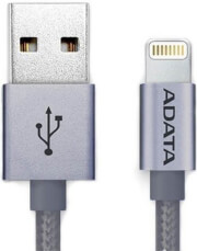 adata amfial 100cmk cti sync charge lightning cable silver titanium photo