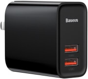 baseus universal usb type c wall charger pps qc30 2x usb 30w black photo