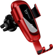 baseus car mount gravity metal with wireless charging function red photo
