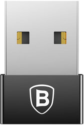 baseus adapter exquisite usb a to usb type c black photo