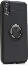 forcell ring back cover case stand for apple iphone x black photo