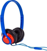 maxell hp360 legacy headphones with mic blue photo