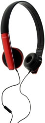 maxell hp headphones with mic black red photo