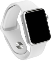 apple watch 3 mtey2 38mm gps silver aluminium white sport band photo