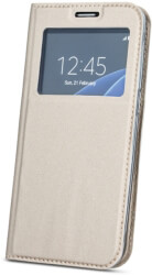 smart look flip case for samsung a70 gold photo
