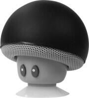logilink sp0054bk mobile bluetooth speaker mushroom design black photo