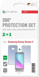 4smarts 360 protection set for samsung galaxy xcover 4 with hard cover clear photo