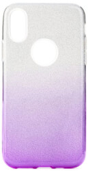 forcell shining back cover case for samsung galaxy a40 clear violet photo