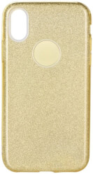 forcell shining back cover case for samsung galaxy a70 gold photo