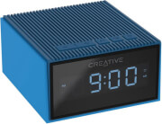 creative chrono portable splash proof bluetooth speaker and fm radio clock blue photo