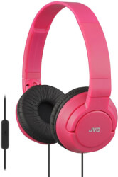 jvc ha sr185 on ear headphones with microphone red photo