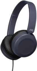 jvc ha s31m foldable on ear headphones with microphone blue photo