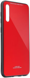 glass case for samsung galaxy a40 red photo