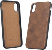 FOREVER PRIME LEATHER BACK COVER CASE FOR SAMSUNG GALAXY S8 BROWN
