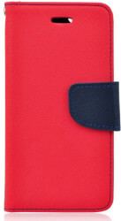 fancy book flip case for samsung note 10 plus red navy photo