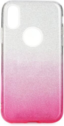 forcell shining back cover case for apple iphone 11 pro max 65 clear pink photo