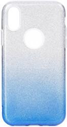 forcell shining back cover case for apple iphone 11 pro 58 clear blue photo
