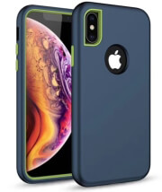 defender solid 3in1 back cover case for huawei p30 lite navy blue photo