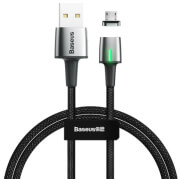baseus cable zinc magnetic micro usb 24a 1m black photo