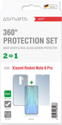 4smarts 360 protection set for xiaomi redmi note 8 pro clear photo