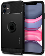 spigen rugged armor back cover case for apple iphone 11 61 matte black photo