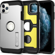 spigen tough armor back cover case stand for apple iphone 11 pro max 65 satin silver photo