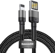 baseus cable cafule working with lightning v2m grey black photo