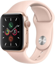 apple watch series 5 mwv72 40mm gps aluminum gold case with pink sand sport band photo