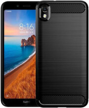 forcell carbon back cover case for xiaomi redmi 7a black photo